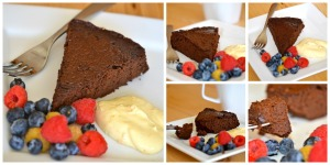 chocolate cake collage