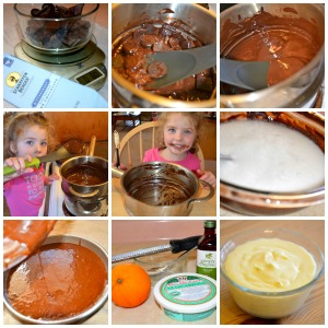 flourless chocolate cake preparation