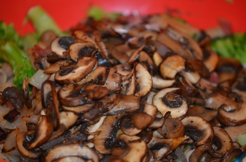 Sautéed mushrooms.