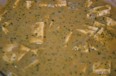 Tofu Marinating in Sauce