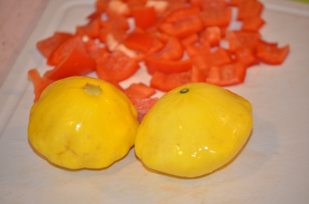 Patty Pan Squash and Red Pepper