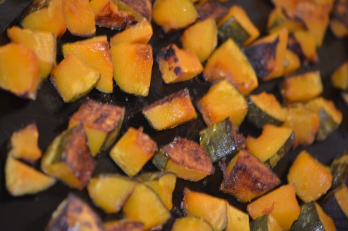 Roasted kabocha squash.