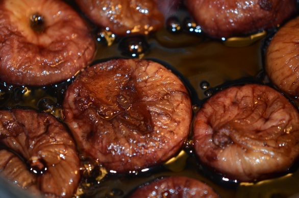 Figs Simmering in Red Wine. Who drank the rest of the wine? #snowday