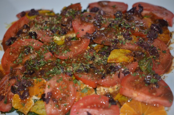 Kale, Yellow Beet and Satsuma Salad